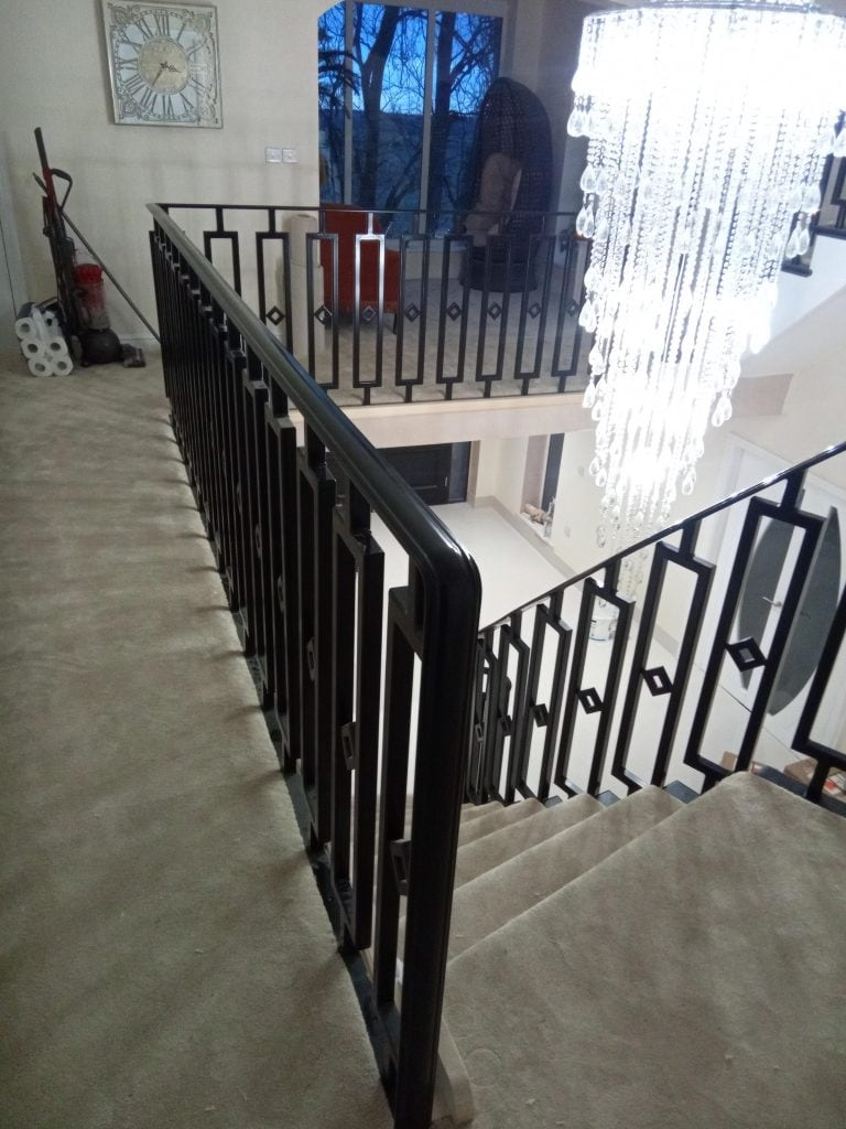 sandbanks poole dorset millionaire property designer staircase quality staircases by Art Metal Engineering
