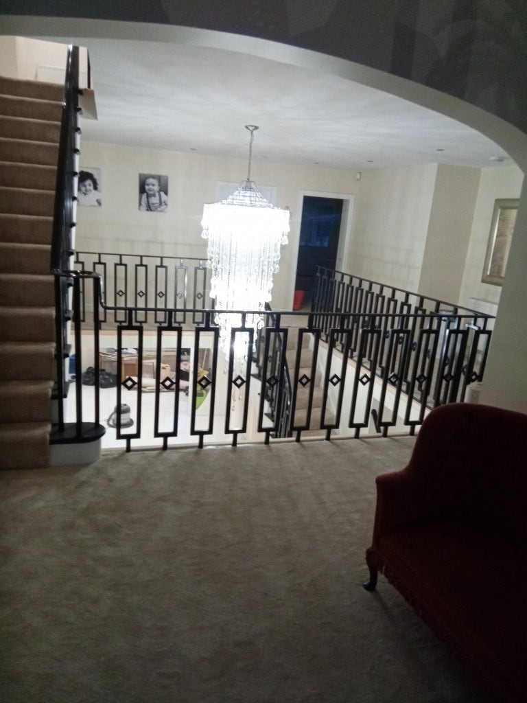 Sandbanks millionaire house staircase balustrade mansion quality staircases by art metal engineering