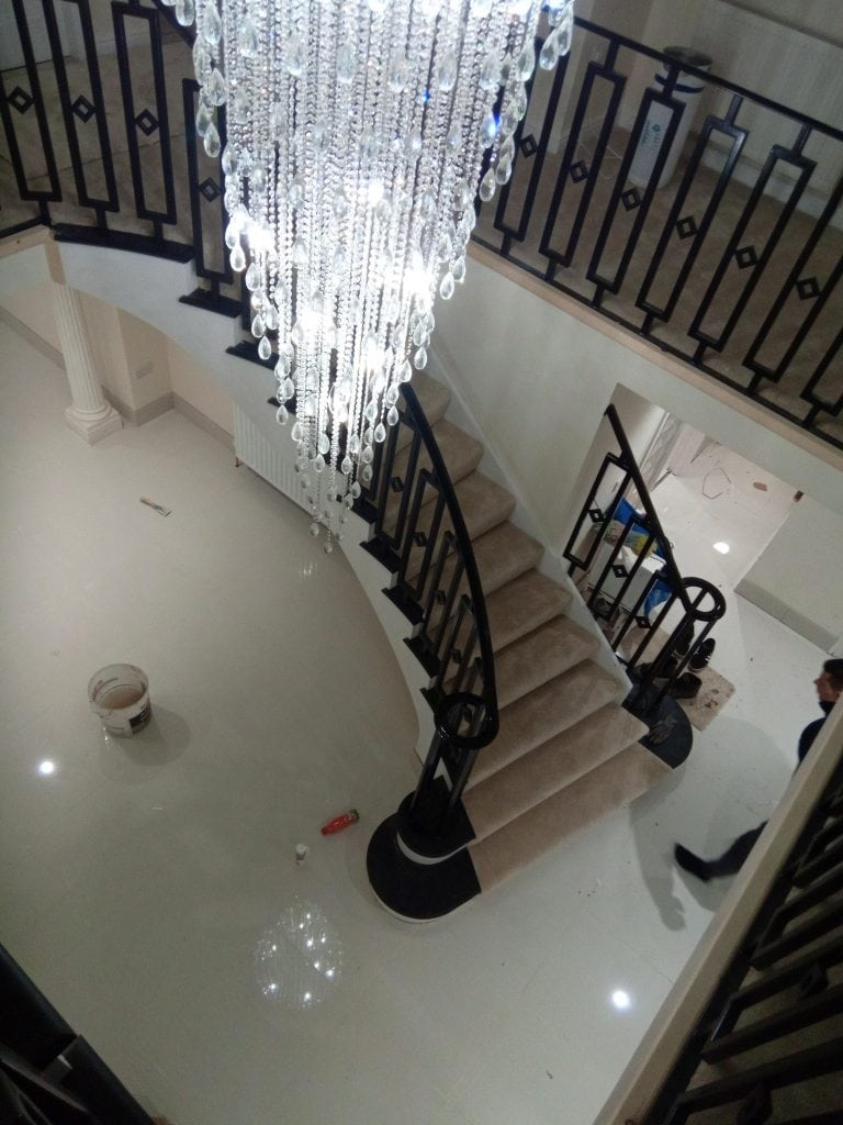 Sandbanks Poole rich designer bespoke staircase Quality staircases by Art Metal Engineering