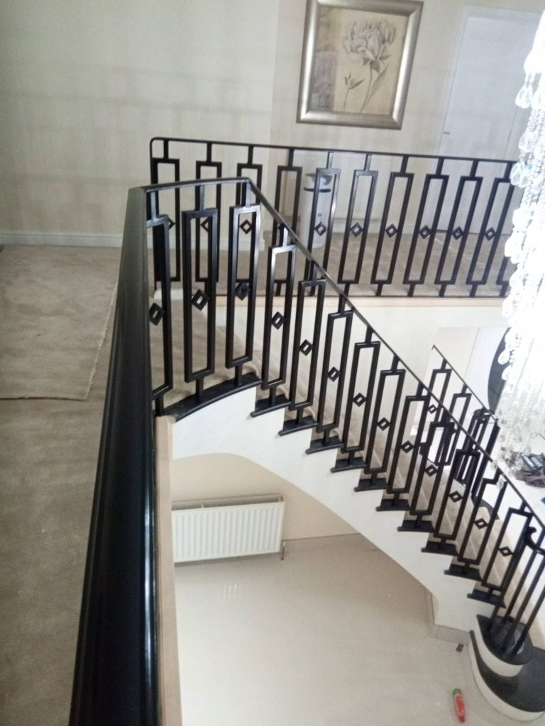Sandbanks exclusive property bespoke staircase quality staircases by Art Metal Engineering designer