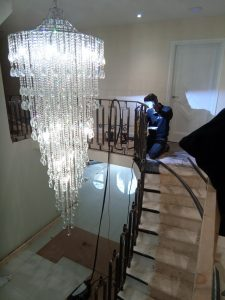 Sandbanks Dorset staircase balustrade renovation redesign posh luxury Quality staircase by Art Metal Engineering Ltd