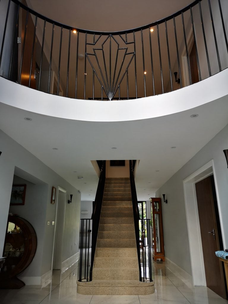 UK Art Deco Staircase and handrail photo quality staircases by art metal engineering image