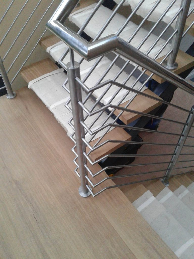 Metal Staircase handrail UK lincolnshire picture photo image bespoke custom individual design quality staircases by Art Metal Engineering