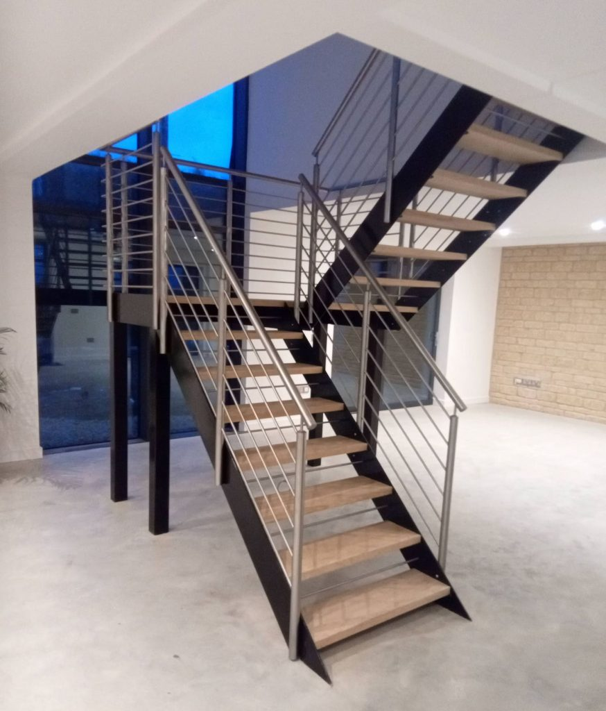 UK House Magazine feature modern staircase wood metal stainless steel quality staircases by Art Metal Engineering