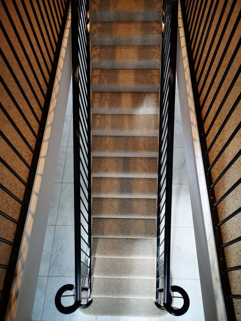 Art Deco Staircase balustrade quality staircases by Art Metal Engineering UK