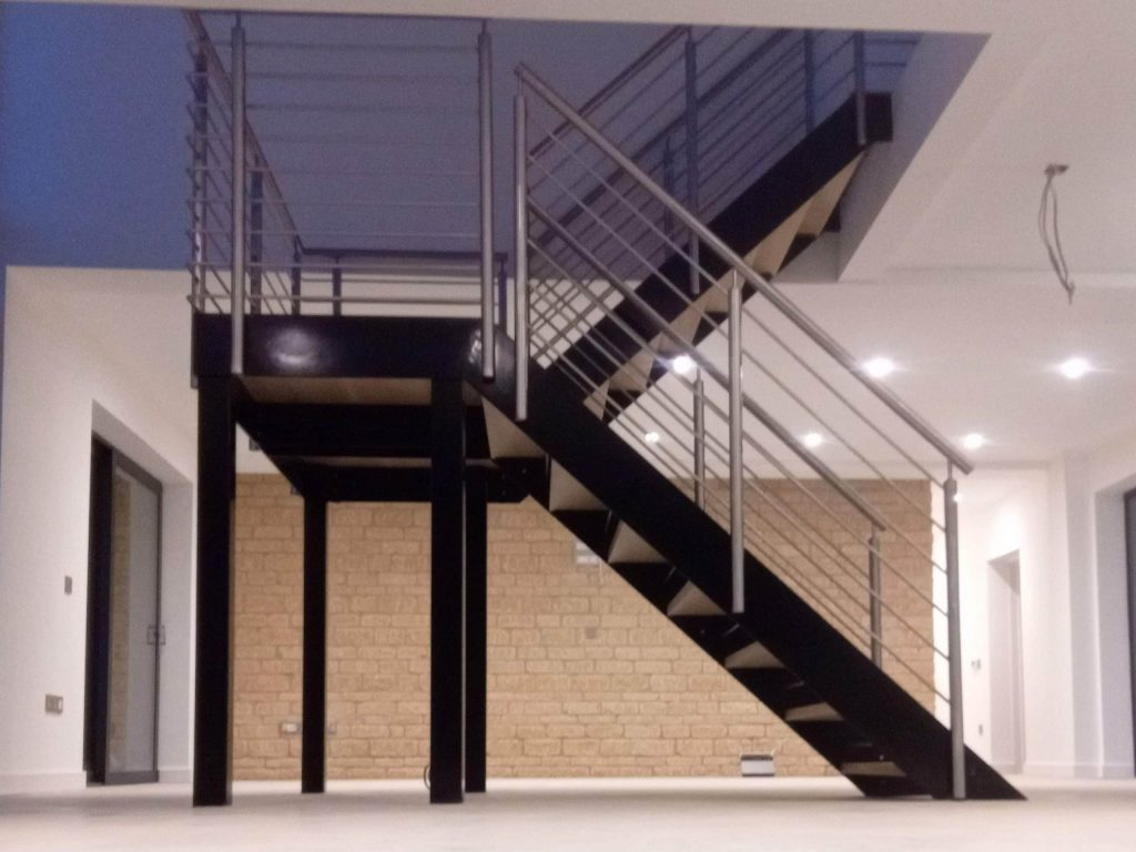 modern bespoke designer staircase house stairs Quality Staircases by Art Metal Engineering Ltd UK